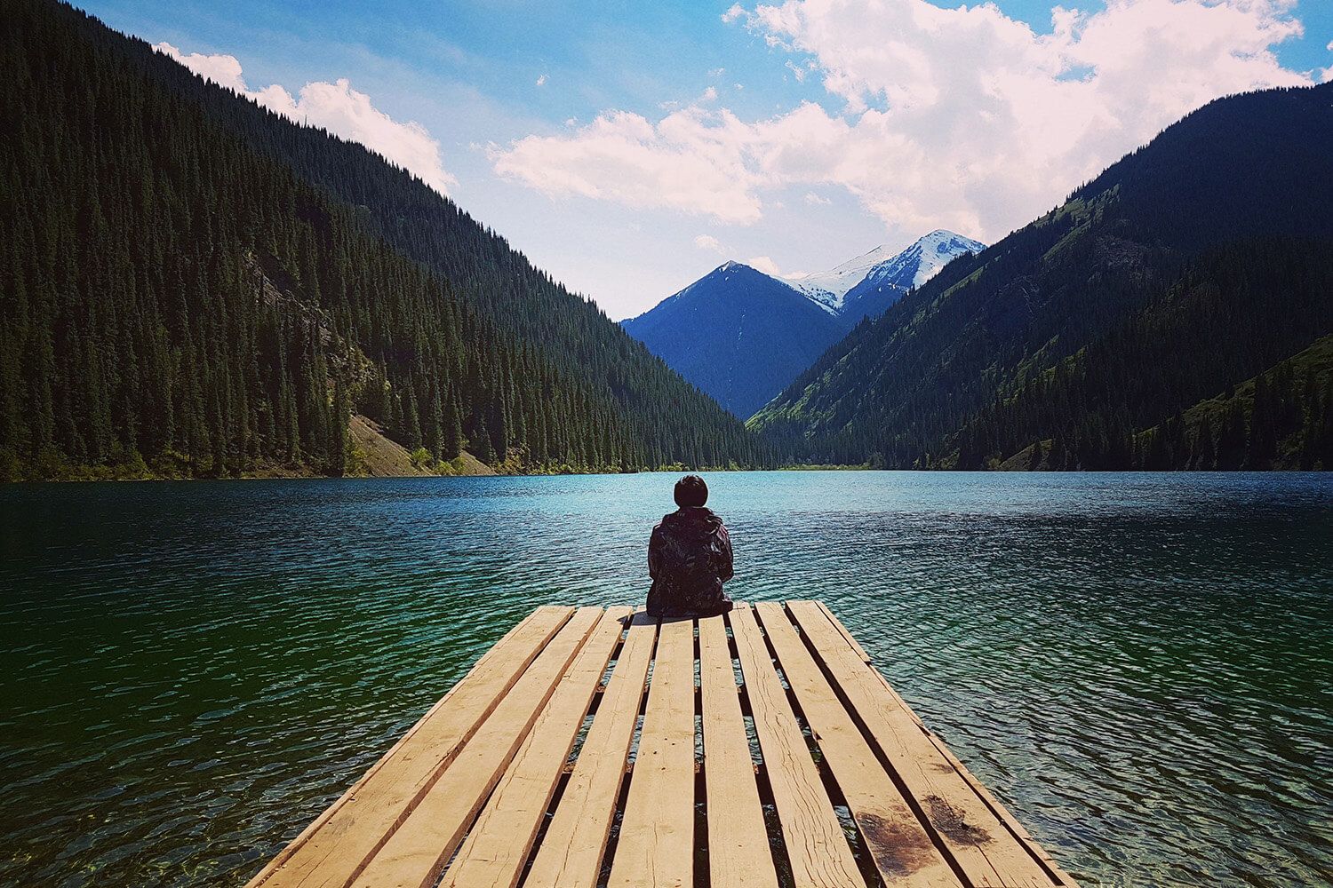 Contemplative at Kolsai Lake